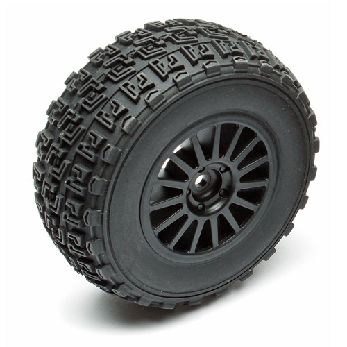 ASSOCIATED QUALIFIER PRO RALLY WHEEL/TYRE MOUNTED (BLACK) PR