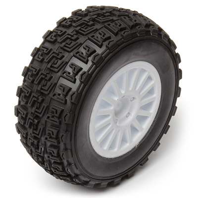 ASSOCIATED QUALIFIER PRO RALLY WHEEL/TYRE MOUNTED (WHITE) PR