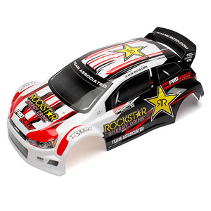 ASSOCIATED QUALIFIER PRO RALLY BODYSHELL ROCKSTAR WHITE/BLK