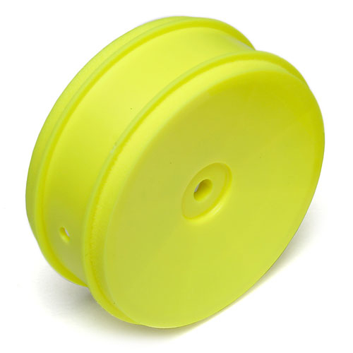 "ASSOCIATED 61mm BUGGY FRONT 2WD WHEEL HEX 12mm YELLOW FOR 2.4"" VTR TYPE"