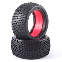 Fastrax 1/10 Buggy Race Tyres (h Pattern) W/mould Insert (r)