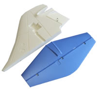 Fms F104 Starfighter Tail Wing (blue)