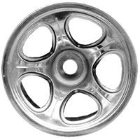 Fastrax HPI Nitro Mt Chrome 5-Spoke Wheels