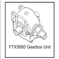 FTX Gearbox/diff Unit (rampage/outrage)