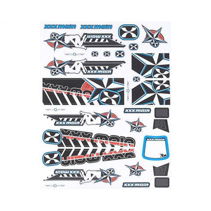 XXX MAIN DARKSTAR 1/8 BUGGY X-WRAPZ BLUE/RED