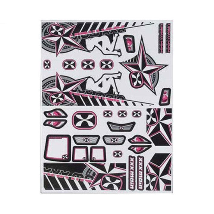 XXX MAIN DARKSTAR 1/8 BUGGY X-WRAPZ GREY/PINK