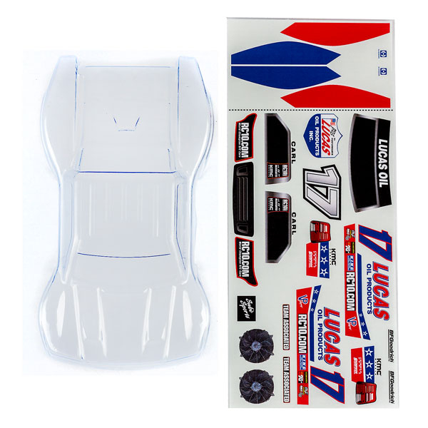 ASSOCIATED SC28 BODY CLEAR WITH LUCAS OIL DECALS