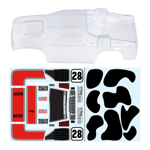 ASSOCIATED RC28T BODY CLEAR