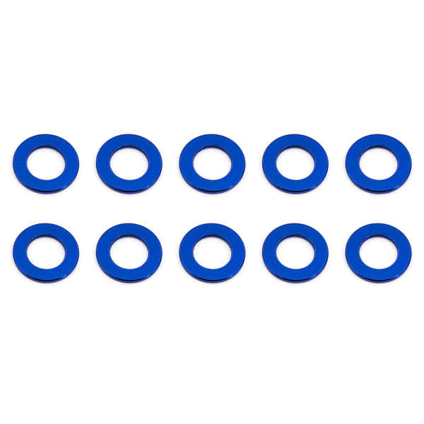 ASSOCIATED BALLSTUD WASHERS 5.5 x 0.5mm BLUE ALUMINIUM x10