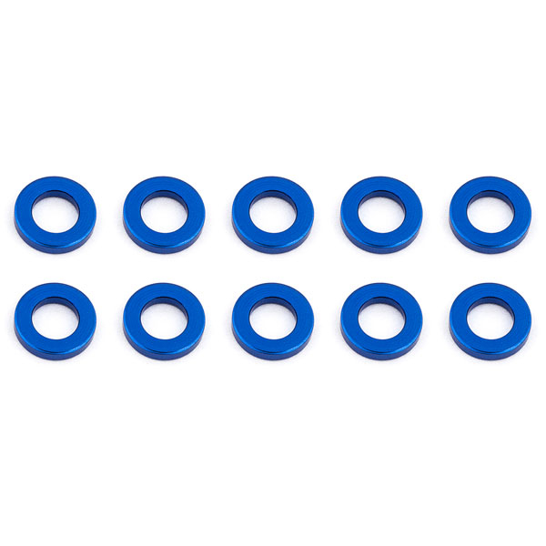ASSOCIATED BALLSTUD WASHERS 5.5 x 1.0mm BLUE ALUMINIUM x10