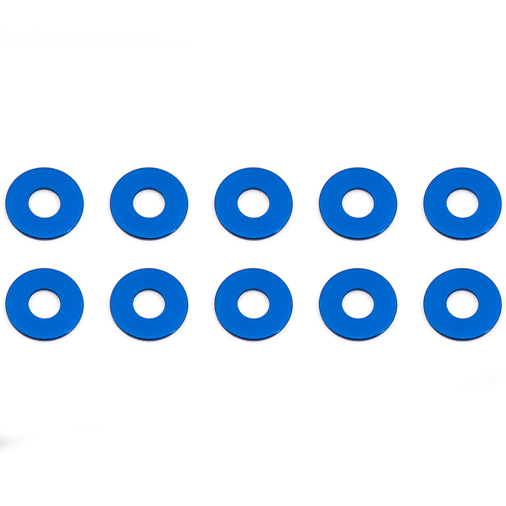 ASSOCIATED BLUE ALUMINUM BULKHEAD WASHERS 7.8 x 0.5MM (10)