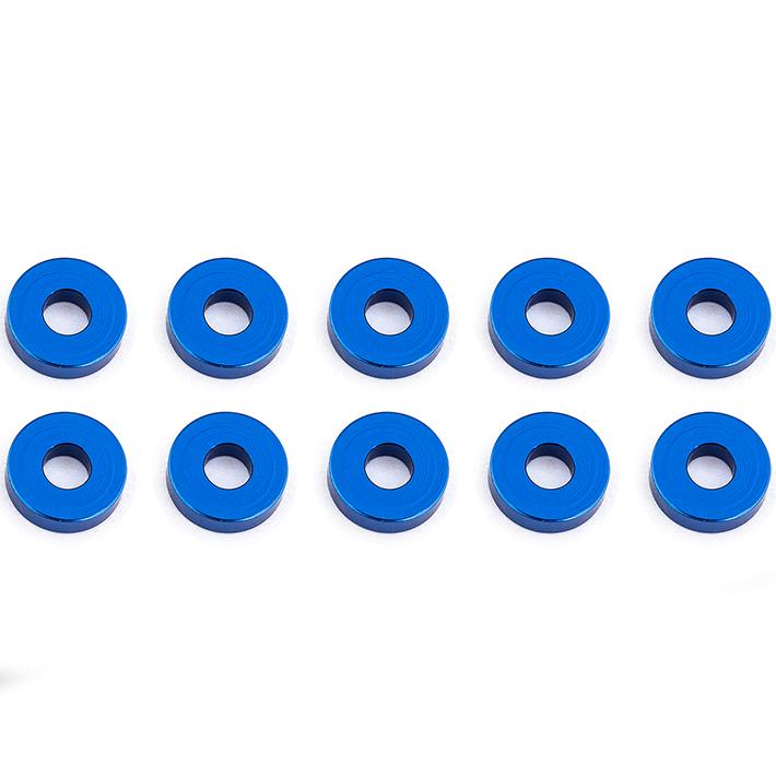 ASSOCIATED BLUE ALUMINUM BULKHEAD WASHERS 7.8 x 2.0 MM (10)