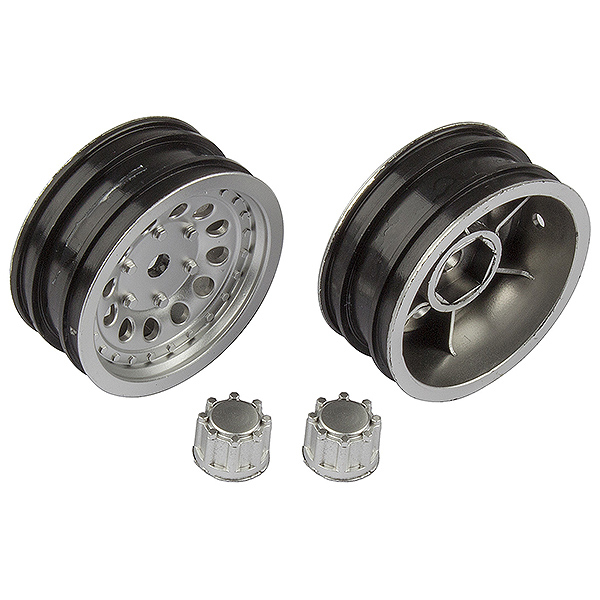 ASSOCIATED CR12 WHEEL SET SATIN SILVER