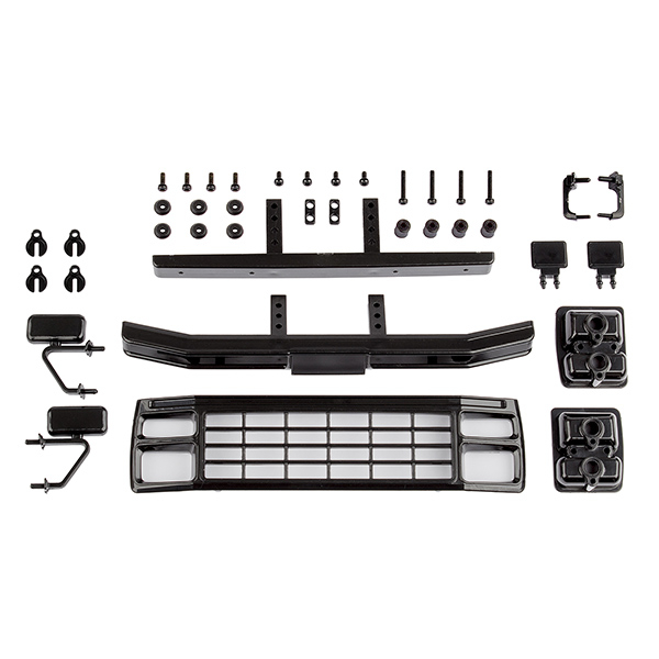 ASSOCIATED CR12 FORD F-150 GRILL & ACCESSORIES SET BLACK