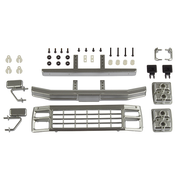 ASSOCIATED CR12 FORD F-150 GRILL & ACC. SET SATIN CHROME