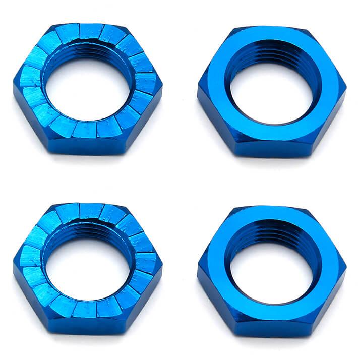 ASSOCIATED RC8B3/RC8B3.1/RC8B3.2 WHEEL NUTS 17MM BLUE