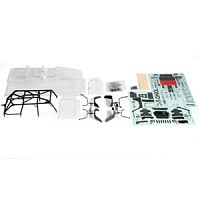 AXIAL 2012 JEEP WRANGLER RUBICON UNLIMITED BODY SET (CLEAR)