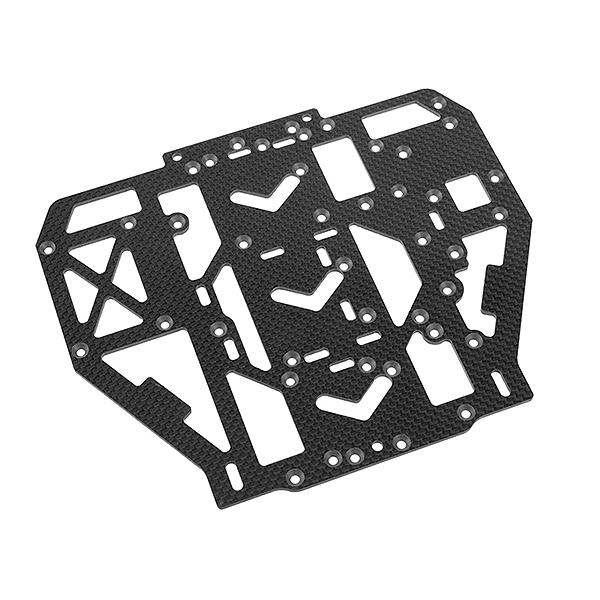 CORALLY RADIO PLATE SSX8X 3K CARBON 1 PC