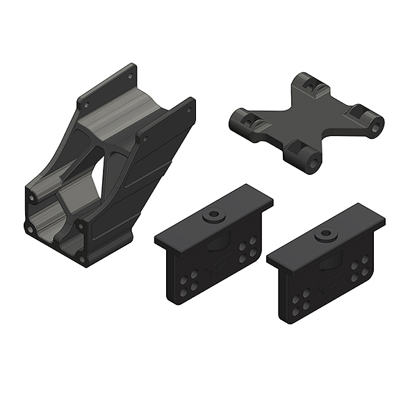 CORALLY WING MOUNT ADJUSTABLE COMPOSITE 1 SET