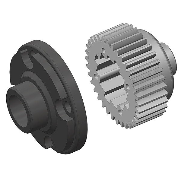 CORALLY DIFF GEAR METAL DIFF GEAR COVER COMPOSITE 1 SET