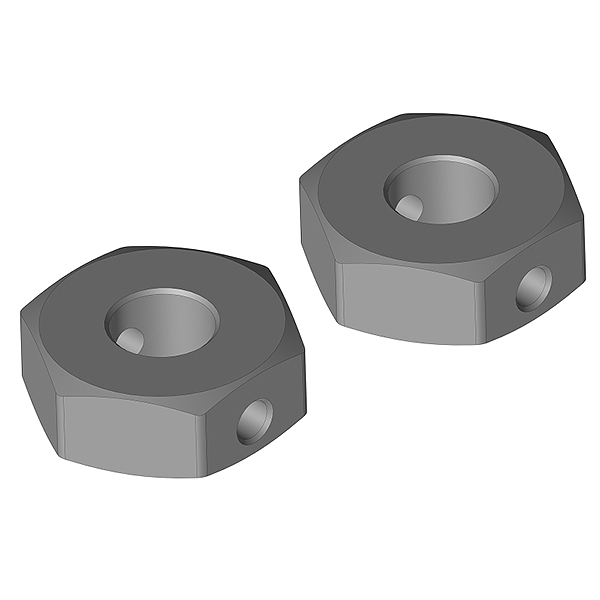 CORALLY WHEEL HEX ADAPTER REAR ALUMINUM 2 PCS