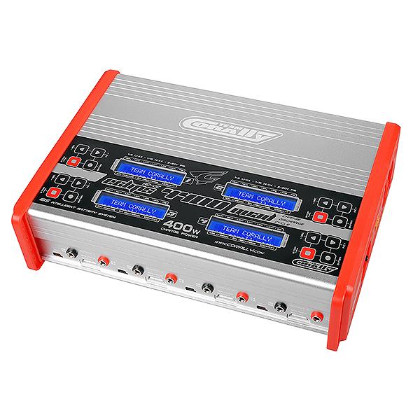 CORALLY CHARGER ECLIPS 4400 QUAD AC/DC 400W POWER LCD DISPLAY  (4X) 1-6 LI-XX 1-15 NI-XX