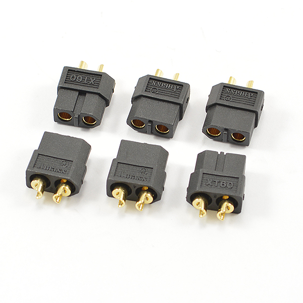 CENTRO XT-60 BLACK FEMALE CONNECTORS (6PC)