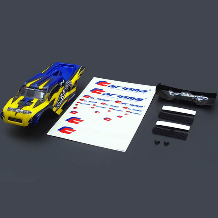 CARISMA GT24TR TRUGGY BODY PAINTED BODY SET (YELLOW/BLUE)