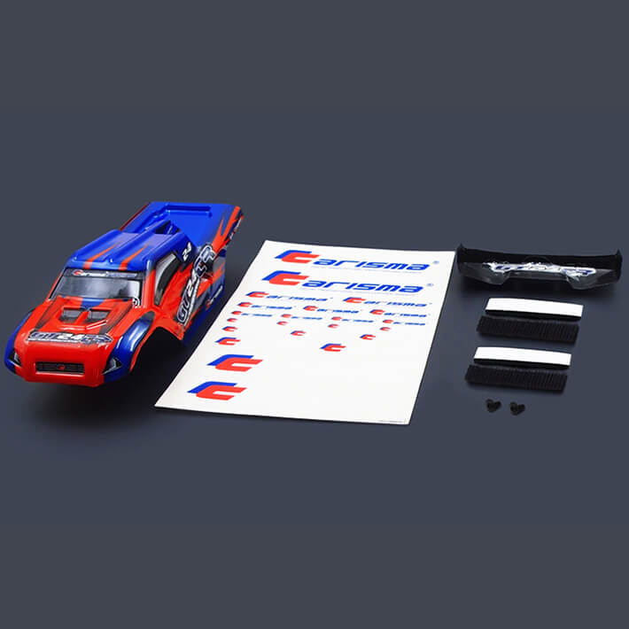 CARISMA GT24TR TRUGGY BODY PAINTED BODY SET (RED/BLUE)