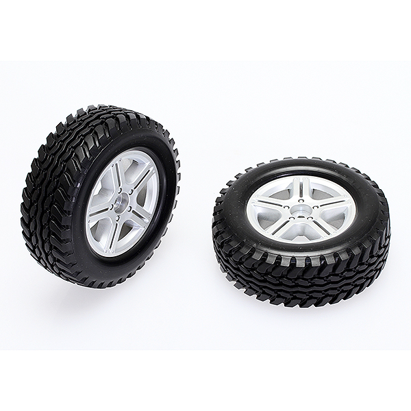 CEN RACING SCALE TIRES SET (PRE GLUED , 91X34X56MM HARD COMPOUND)