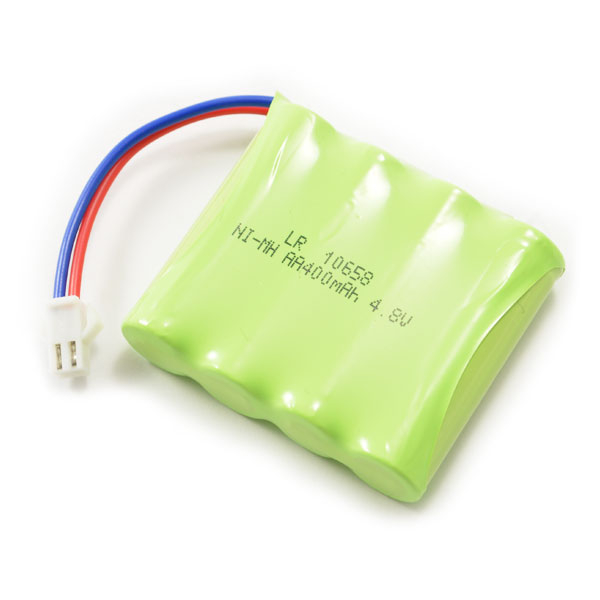 HUINA 1331 BATTERY 4cell 400mAh 4.8V NI-MH WHITE SM - CONNECTOR PLEASE CHECK YOUR MODEL