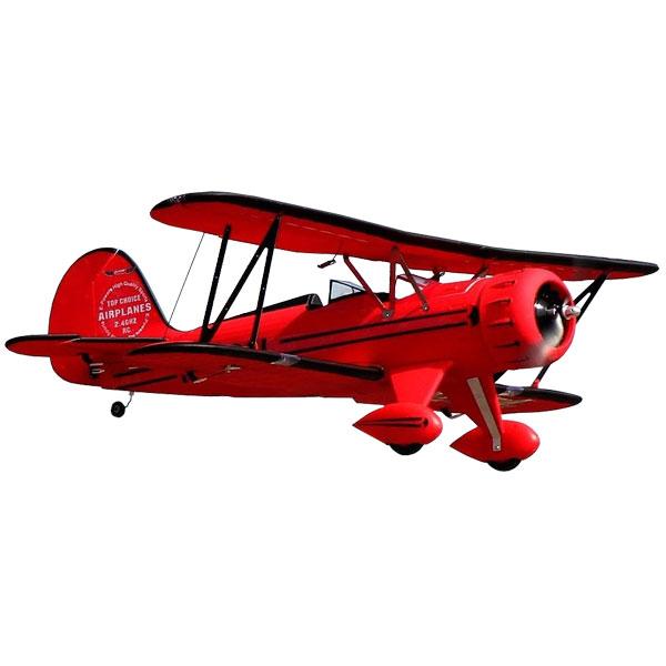 DYNAM WACO YMF-5D 1270MM RED BI-PLANE w/o TX/RX/Batt