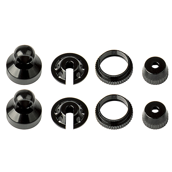 ELEMENT RC ENDURO SHOCK PARTS, BLACK ALUMINUM
