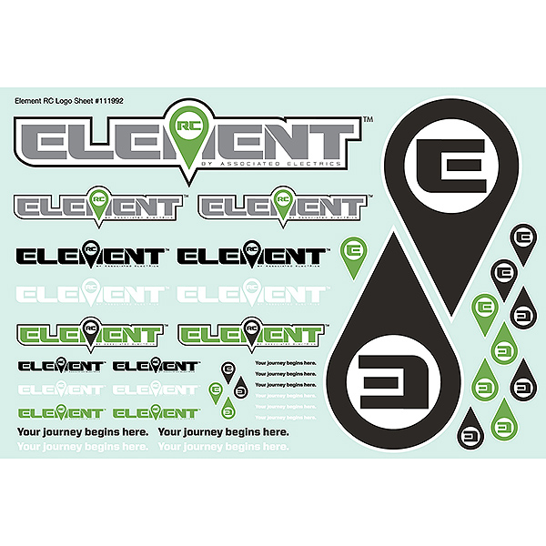 ELEMENT RC ELEMENT DECAL SHEET
