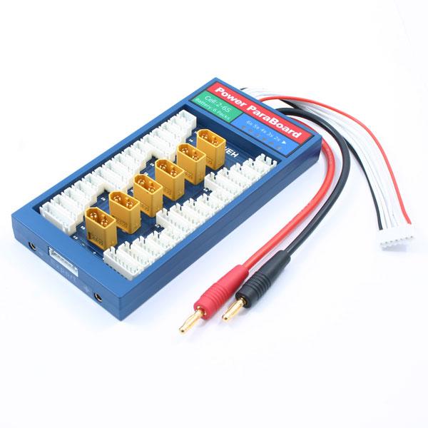 ETRONIX POWER PARABOARD 6PK w/XT60 CONNECTOR & XH BALANCE
