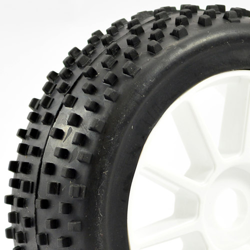 Fastrax 1/8th Buggy Premounted 'Chip Block' Tyres on 10 Spoke Wheels