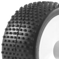 Fastrax 1/10th Mounted Buggy Tyres Lp 'Block' Rear