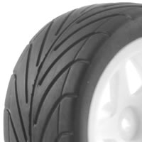 Fastrax 1/10th Mounted Buggy Tyres Lp 'Arrow' Rear