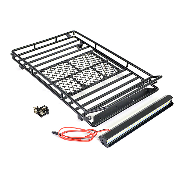 FASTRAX ROOFTOP LUGGAGE RACK W/LED LIGHT BAR (230X143X25MM)