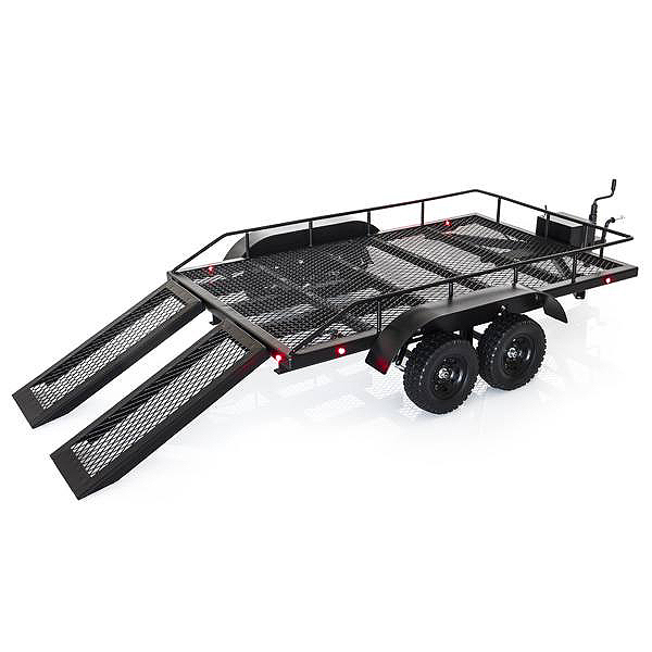FASTRAX SCALE DUAL AXLE TRUCK CAR TRAILER w/RAMPS & LEDs