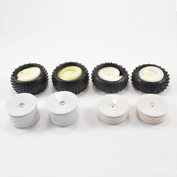 Fastrax 1/10 Buggy 4WD Wheel and Pin Tyre Set (4) Unglued