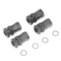 Fastrax 1/8th 15mm Extension Hub Adaptors - To Widen Track