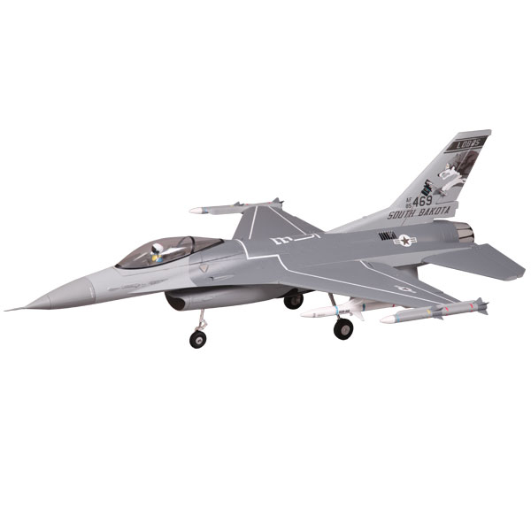 FMS F16 875MM JET FIGHTER 70MM EDF ARTF GREY w/o TX/RX/BATT