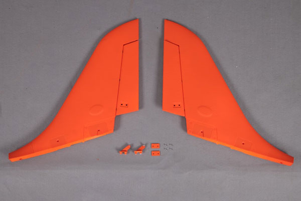 FMS 90MM SUPER SCORPION VERTICAL STABILZER ORANGE