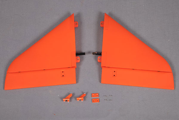 FMS 90MM SUPER SCORPION HORIZONTAL STABILZER ORANGE