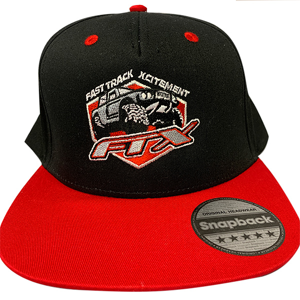 FTX BADGE LOGO SNAPBACK CAP RED/BLACK