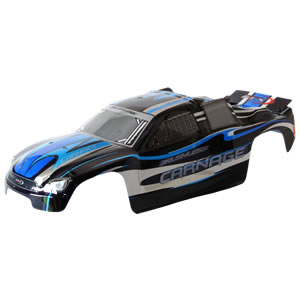 FTX CARNAGE ST PRINTED BODY - BLACK (BRUSHLESS)