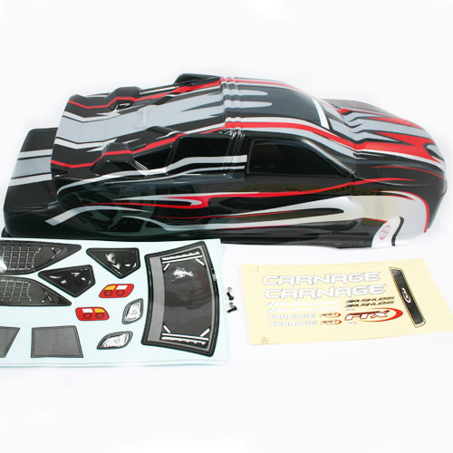 FTX CARNAGE ST PRINTED BODY - OPTION BLACK/RED