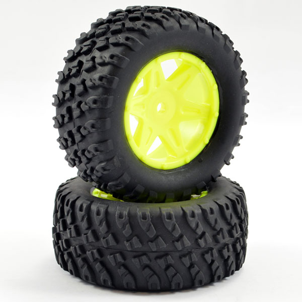 FTX COMET DESERT BUGGY/SC REAR MOUNTED TYRE & WHEEL YELLOW