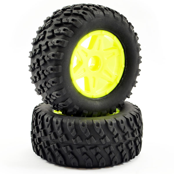 FTX COMET DESERT BUGGY FRONT MOUNTED TYRE & WHEEL YELLOW
